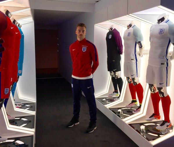 England 2016 Euro kits