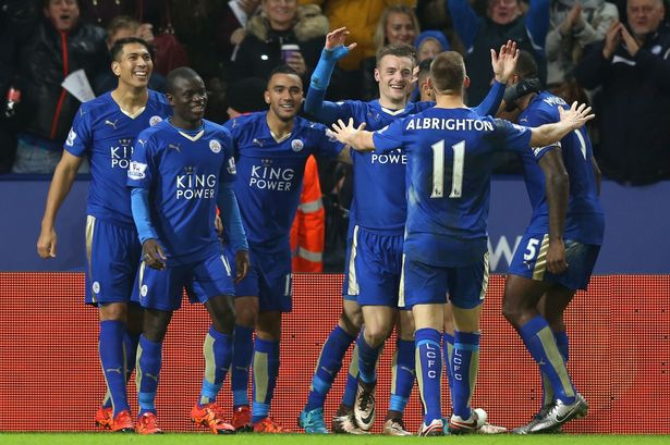 Leicester City celebrations