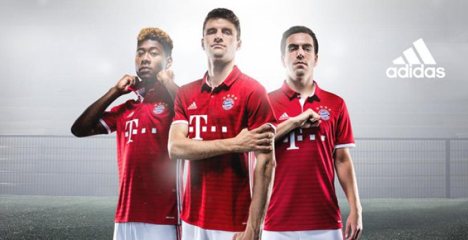 Bayern Munich 2016-17 home kit