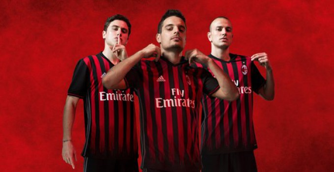 AC Milan 2016-17 home kit