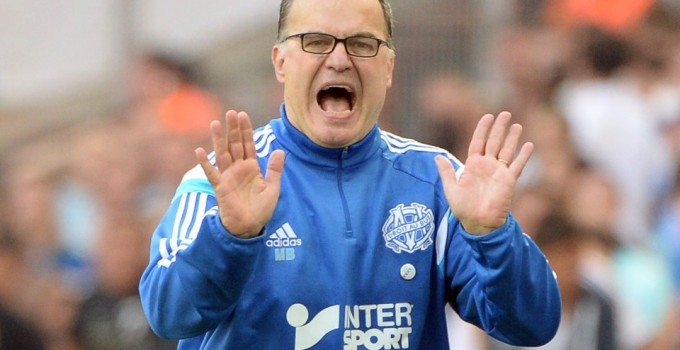 Marseille's Argentine head coach Marcelo Bielsa reacts during the French L1 football match between Marseille and Toulouse at the Velodrome stadium in Marseille on October 19, 2014. Marseille won the match 2-0. AFP PHOTO / BORIS HORVATBORIS HORVAT/AFP/Getty Images