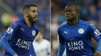 Leicester hope to retain the services of Riyad Mahrez (left) and N'Golo Kante (right)