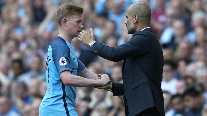Guardiola singled De Bruyne out for special praise after his virtuoso display against Bournemouth.