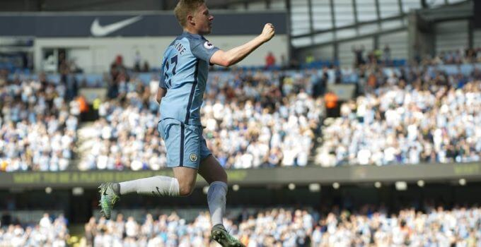 kevin-de-bruyne celebrates his goal against bournemouth
