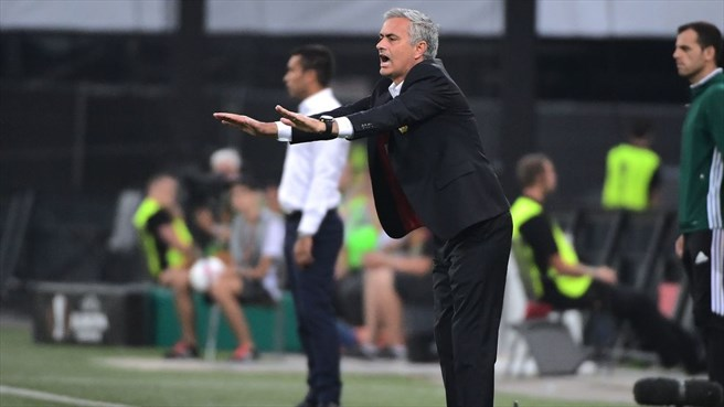 Mourinho's Manchester United lacked ideas going forward.