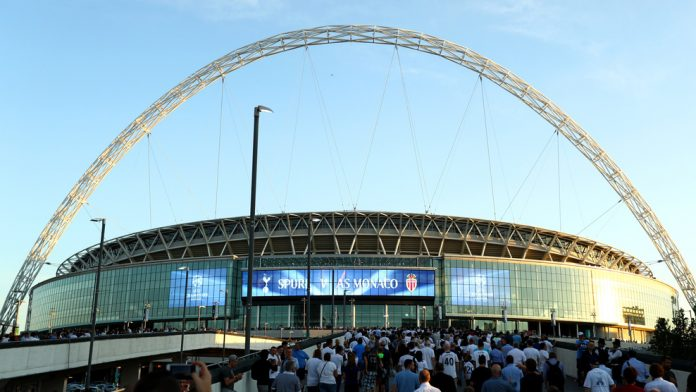 Spurs lost their Champions League opener at their temporary European home of Wembley.