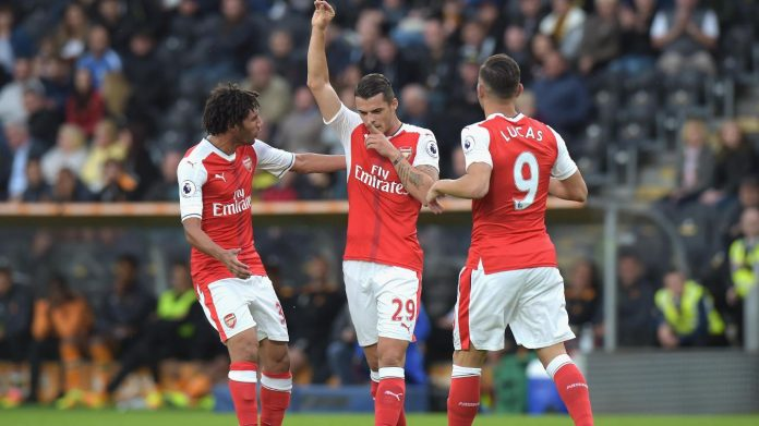 Xhaka scored with a fine long range effort against Hull.