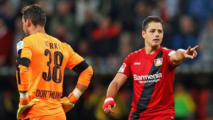 Chicharito sealed Leverkusen's win with his fifth goal of the season.