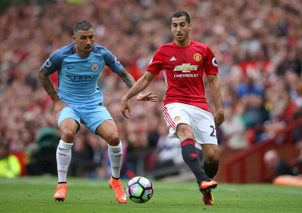 Henrikh Mkhitaryan's last appearance for Manchester United was against Manchester City in September.