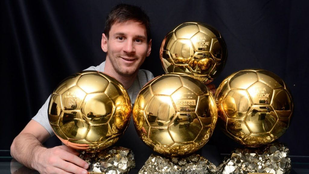 Lionel Messi has won five Ballons d'Or.
