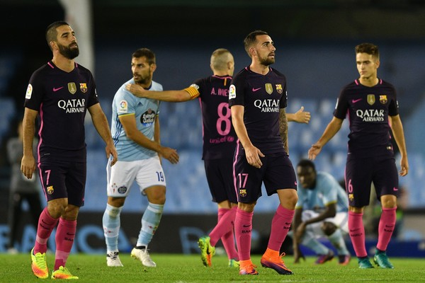 Barcelona suffered a shock loss against Celta Vigo.
