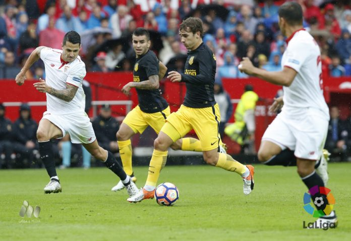 Griezmann and co struggled in the Seville rain.