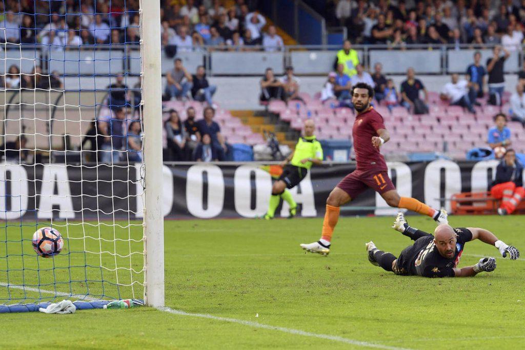 Mohamed Salah inspired Roma's win over Napoli.