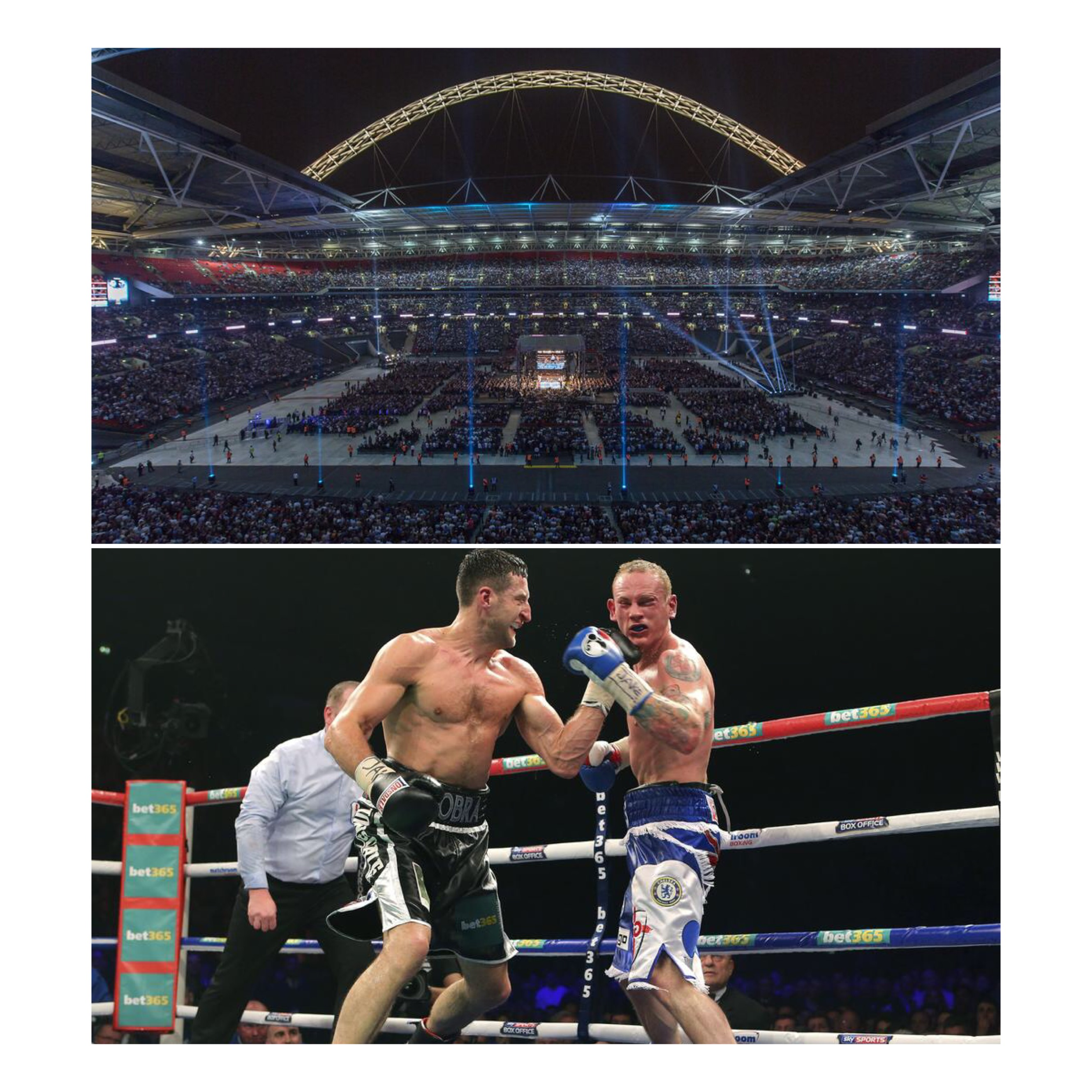 80,000 fans packed into Wembley Stadium on 31st May 2014 to see Froch v Groves 2