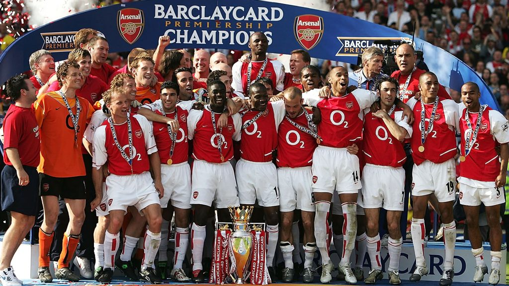 Arsenal's Invincibles of 2003/04.