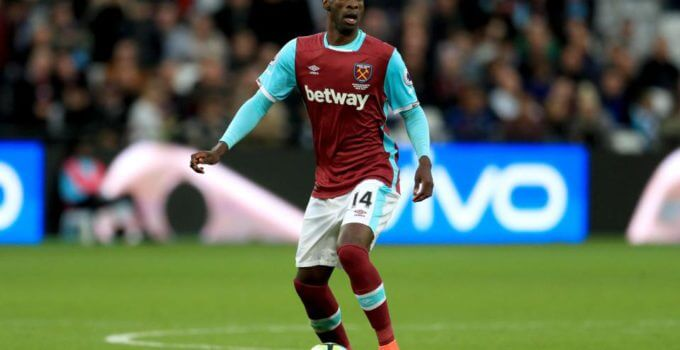 West Ham United midfielder Pedro Obiang