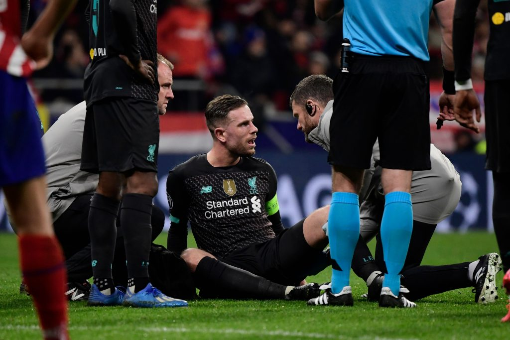 Jordan Henderson: Liverpool captain ruled out for 3 weeks with hamstring injury