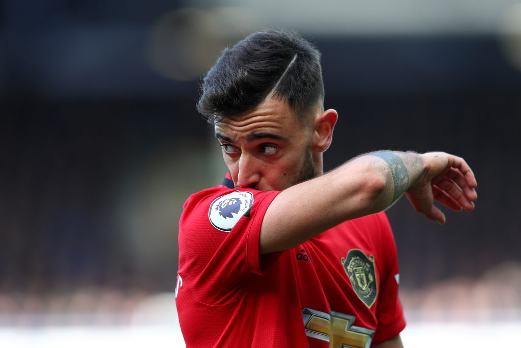 Bruno Fernandes reacts to Manchester United draw vs ...