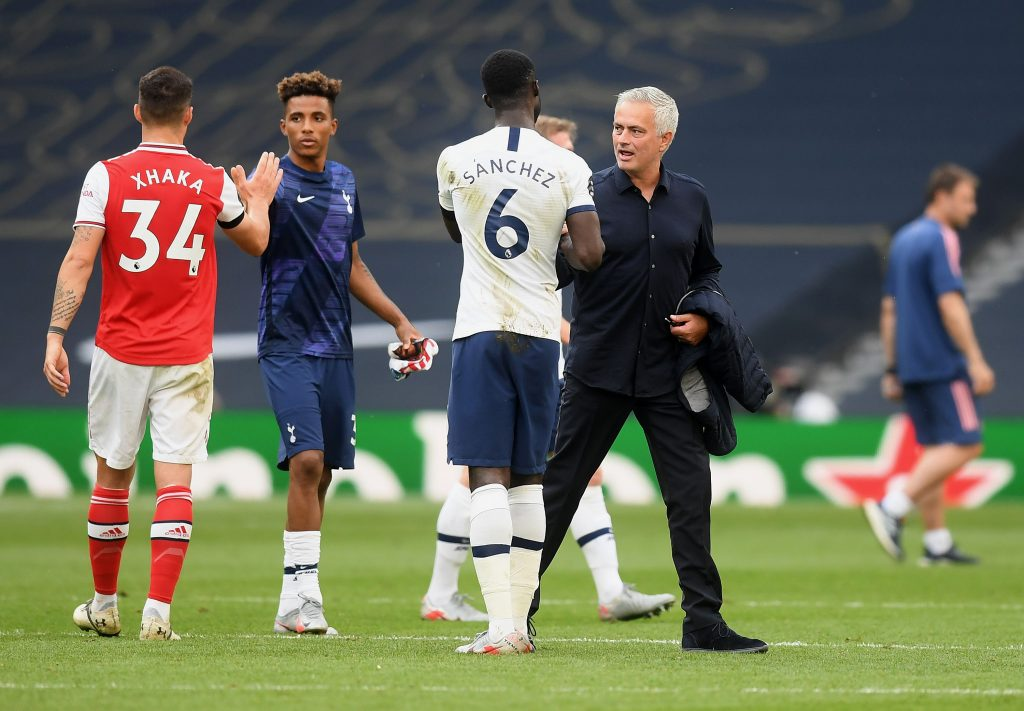 Mourinho credits Tottenham heart for terrific win as Arsenal record continues