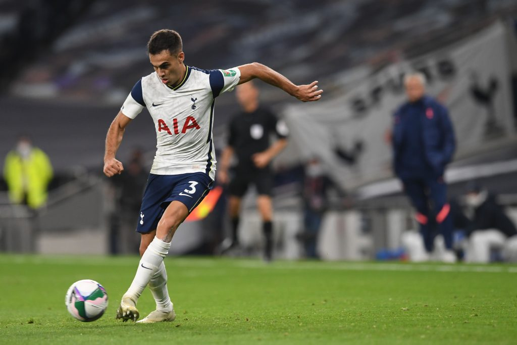 Tottenham's Sergio Reguilon in connection with Real Madrid return