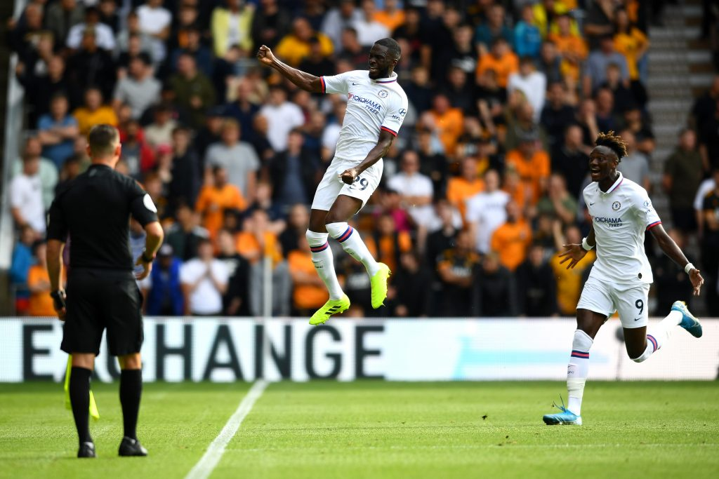 Tomori celebrates a stunner at Molineux last season