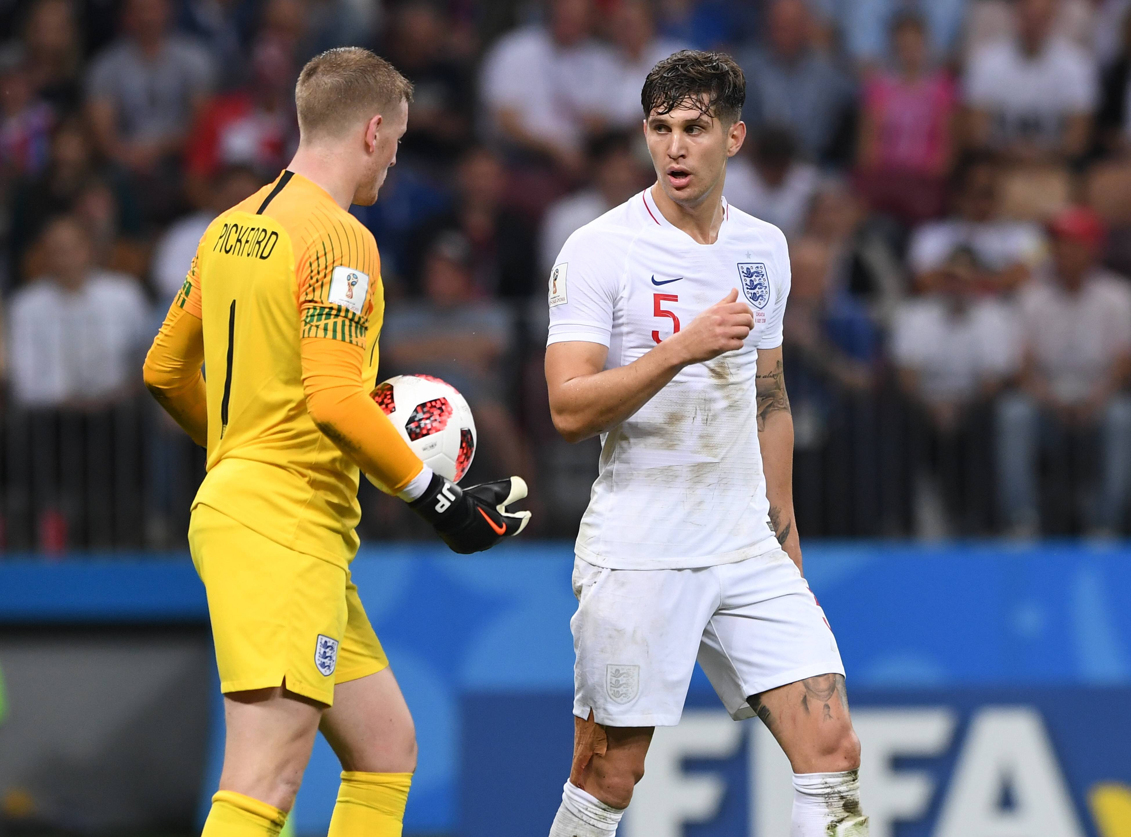 Gareth Southgate reacts to heated debate between Everton's Jordan Pickford and Manchester City's John Stones   Sportslens.com