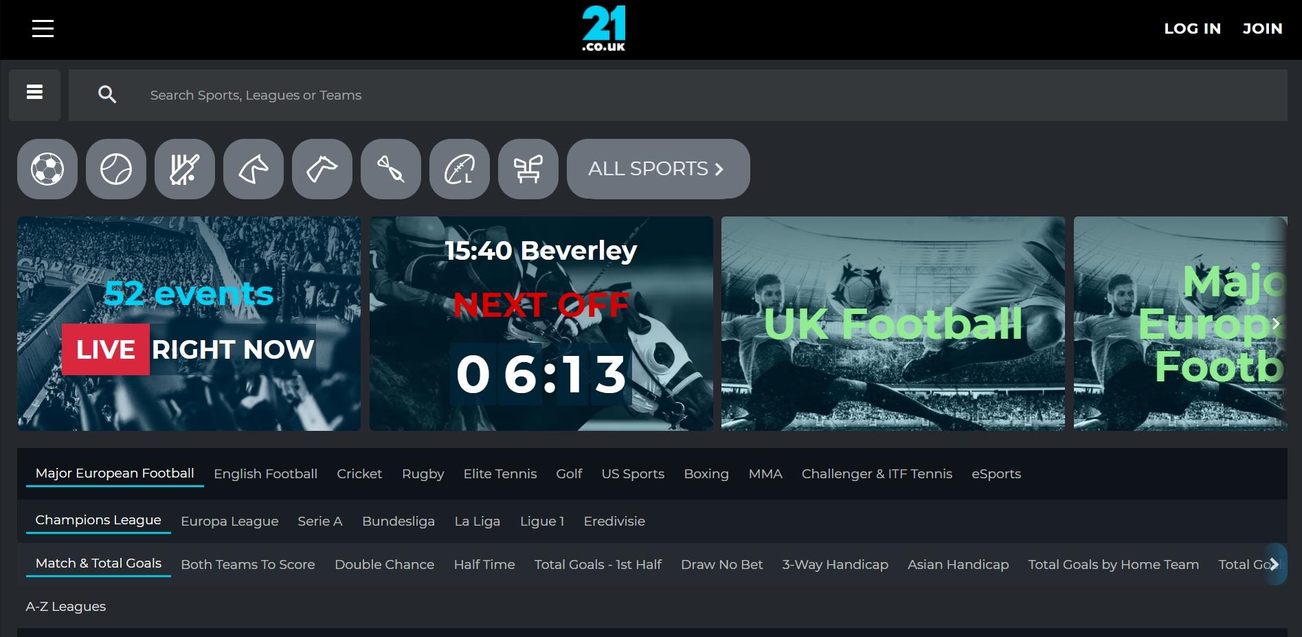 best betting sites UK 21.co.uk