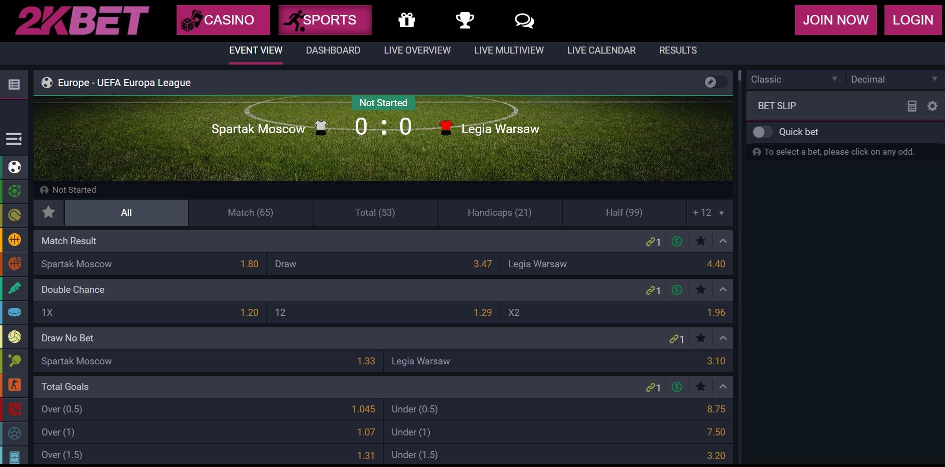 best betting sites UK 2kBet