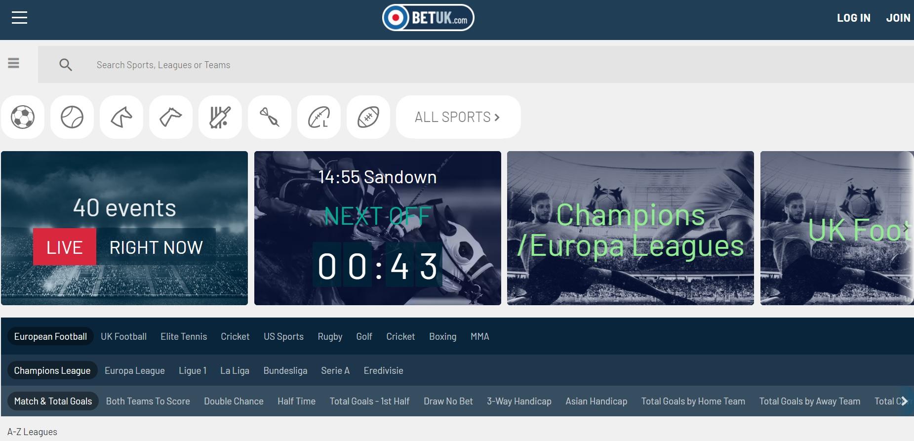 best betting sites UK BetUK