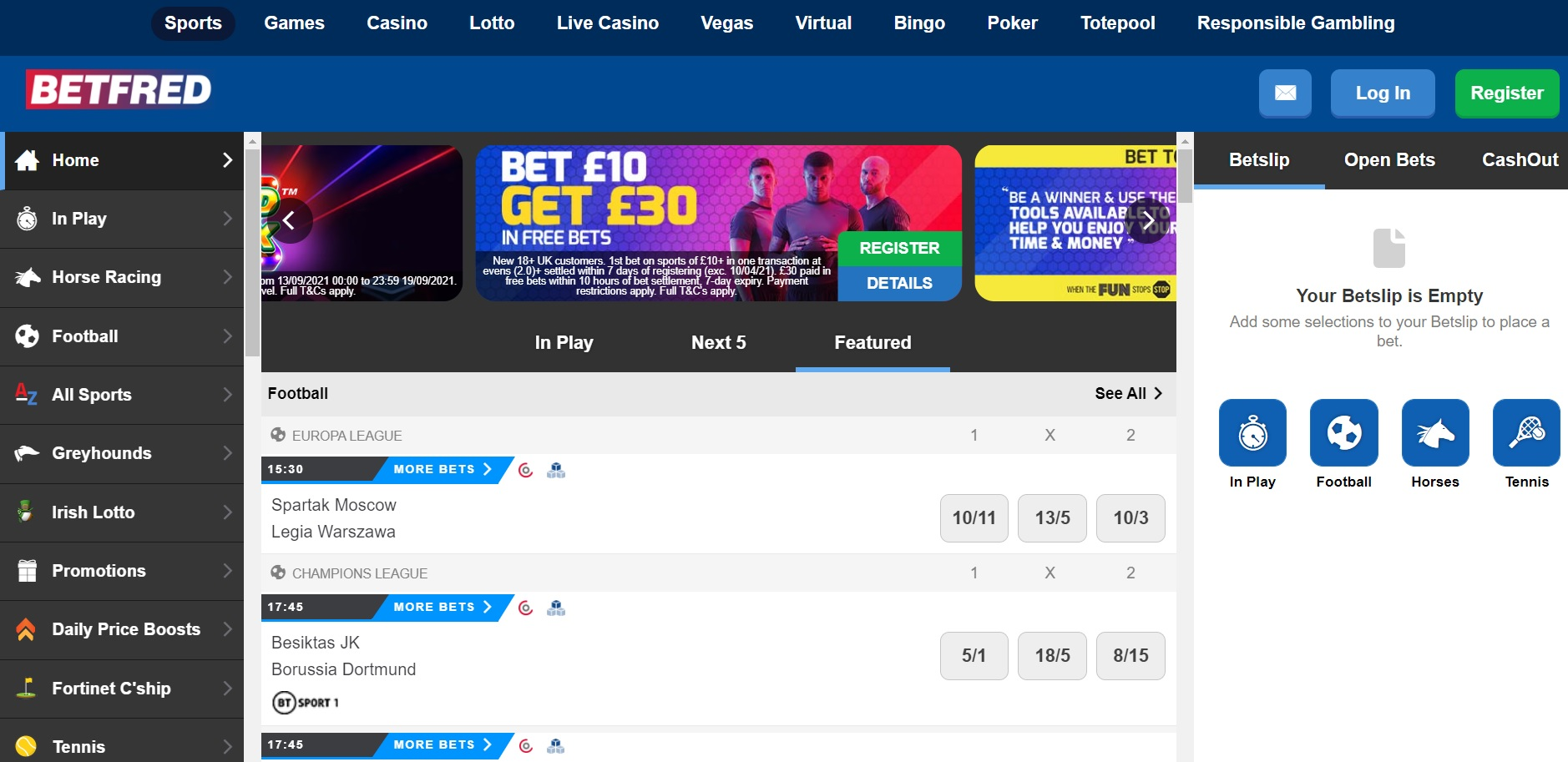 best betting sites UK Betfred