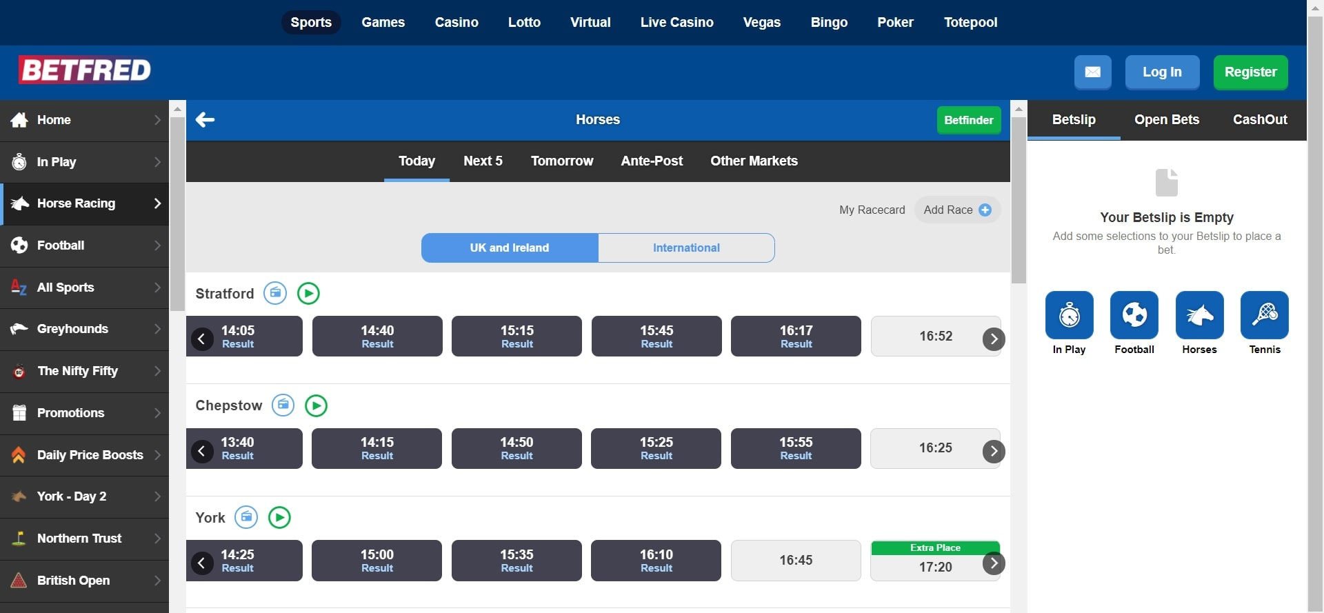 Betfred horse racing betting