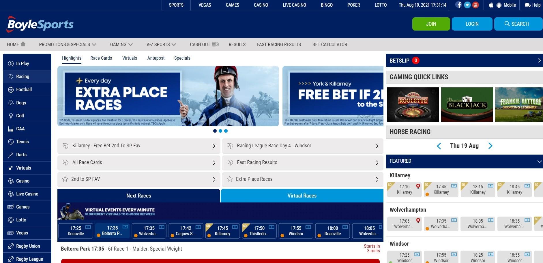 Boylesports horse racing betting