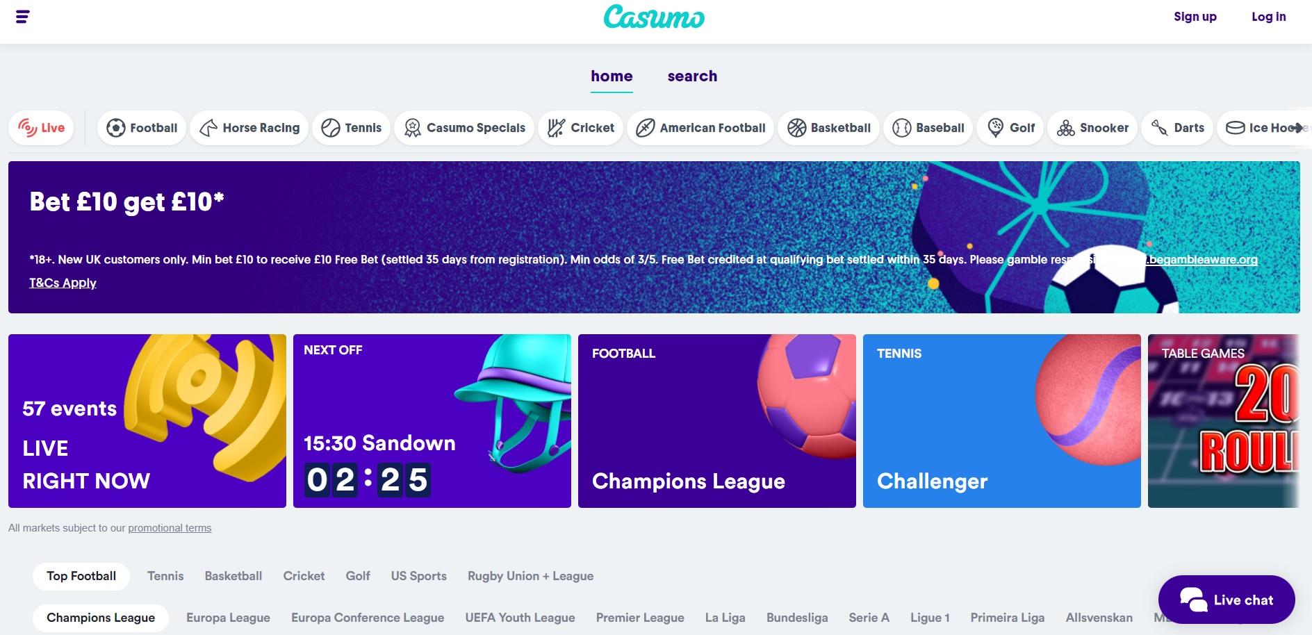 best betting sites UK Casumo