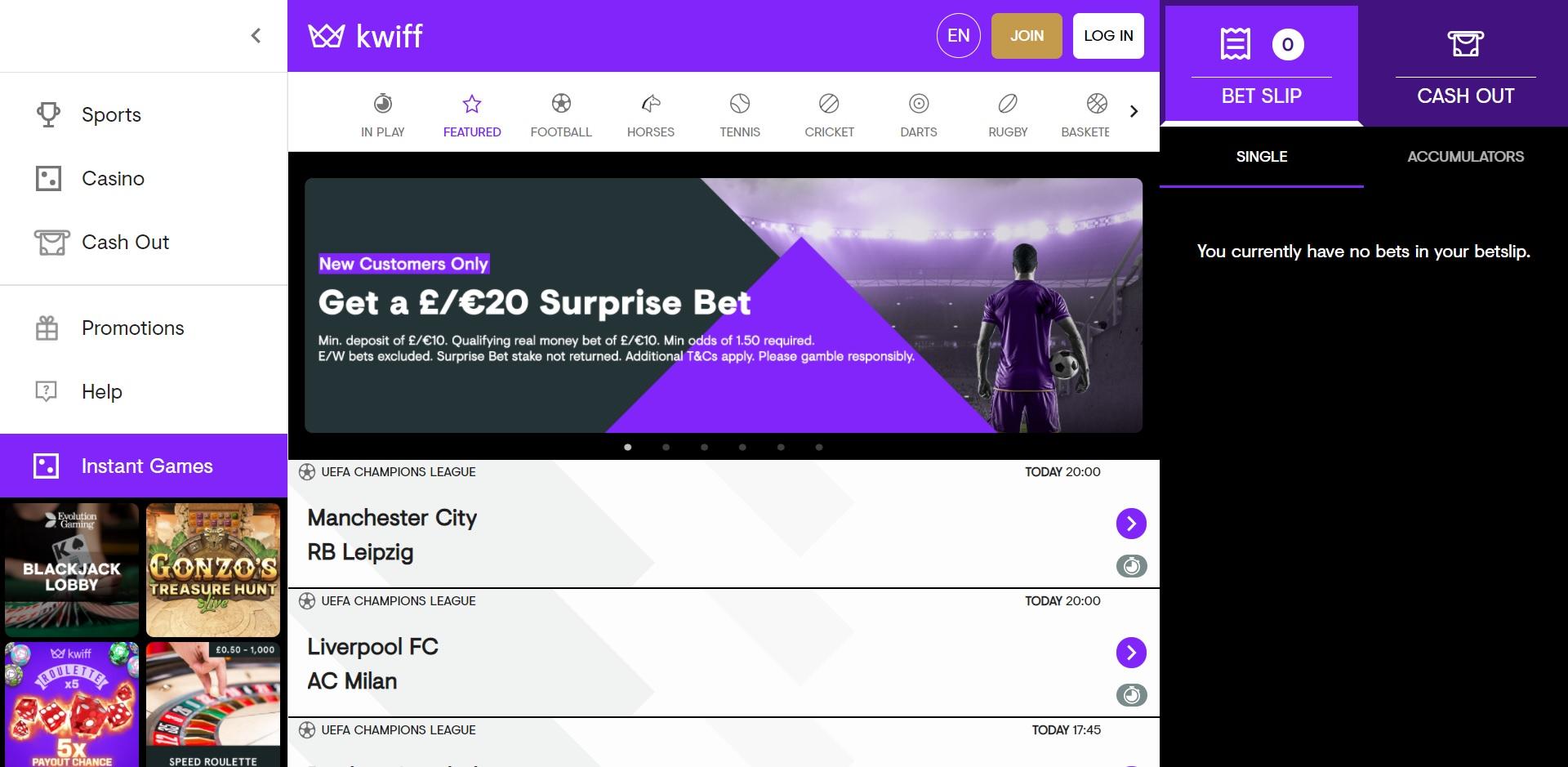 best betting sites UK Kwiff