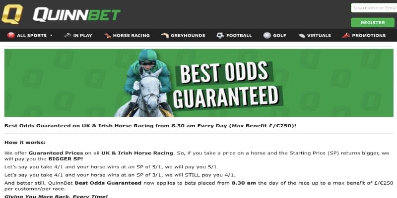QuinnBet best odds guaranteed