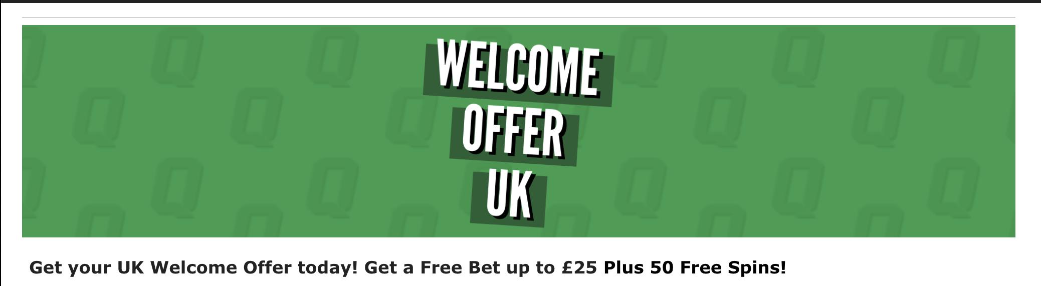 quinnbet free bet