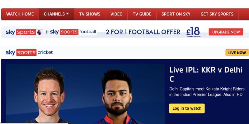 Sky Sports IPL cricket stream