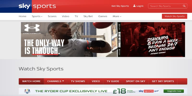 Sky Sports live stream package deals
