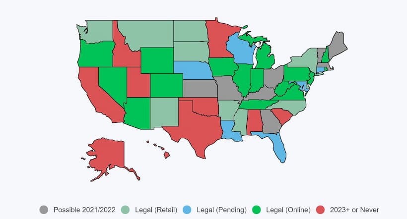 What States is Sports Betting Legal In US