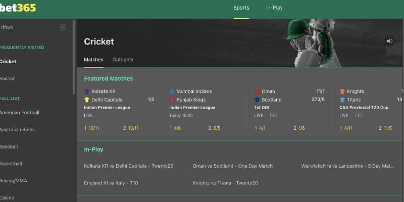 bet365 cricket stream