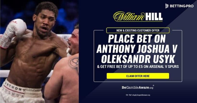 Joshua vs Usyk Consejos de apuestas: obtenga una apuesta igualada de £ 5 para Arsenal vs Spurs en William Hill
