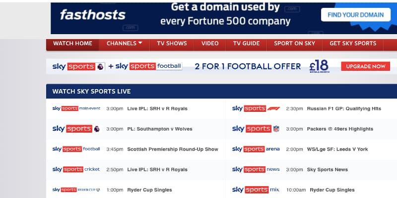 sky sports football streaming