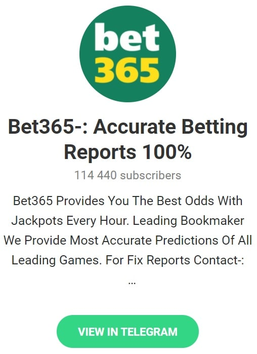 Bet365 Accurate Betting Reports betting tips telegram groups