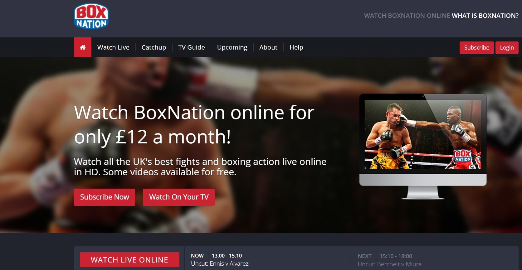 BoxNation boxing streaming sites