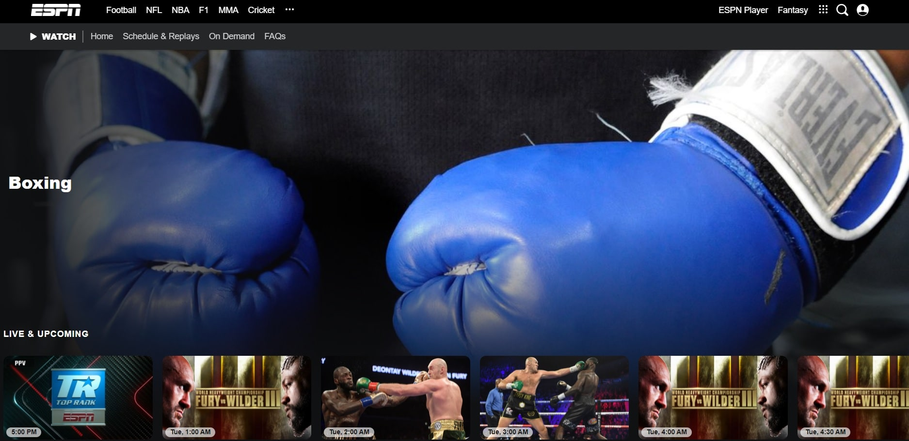 ESPN boxing streaming sites