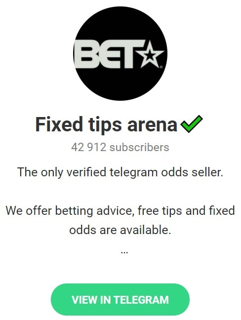 Fixed Tips Arena betting tips telegram groups