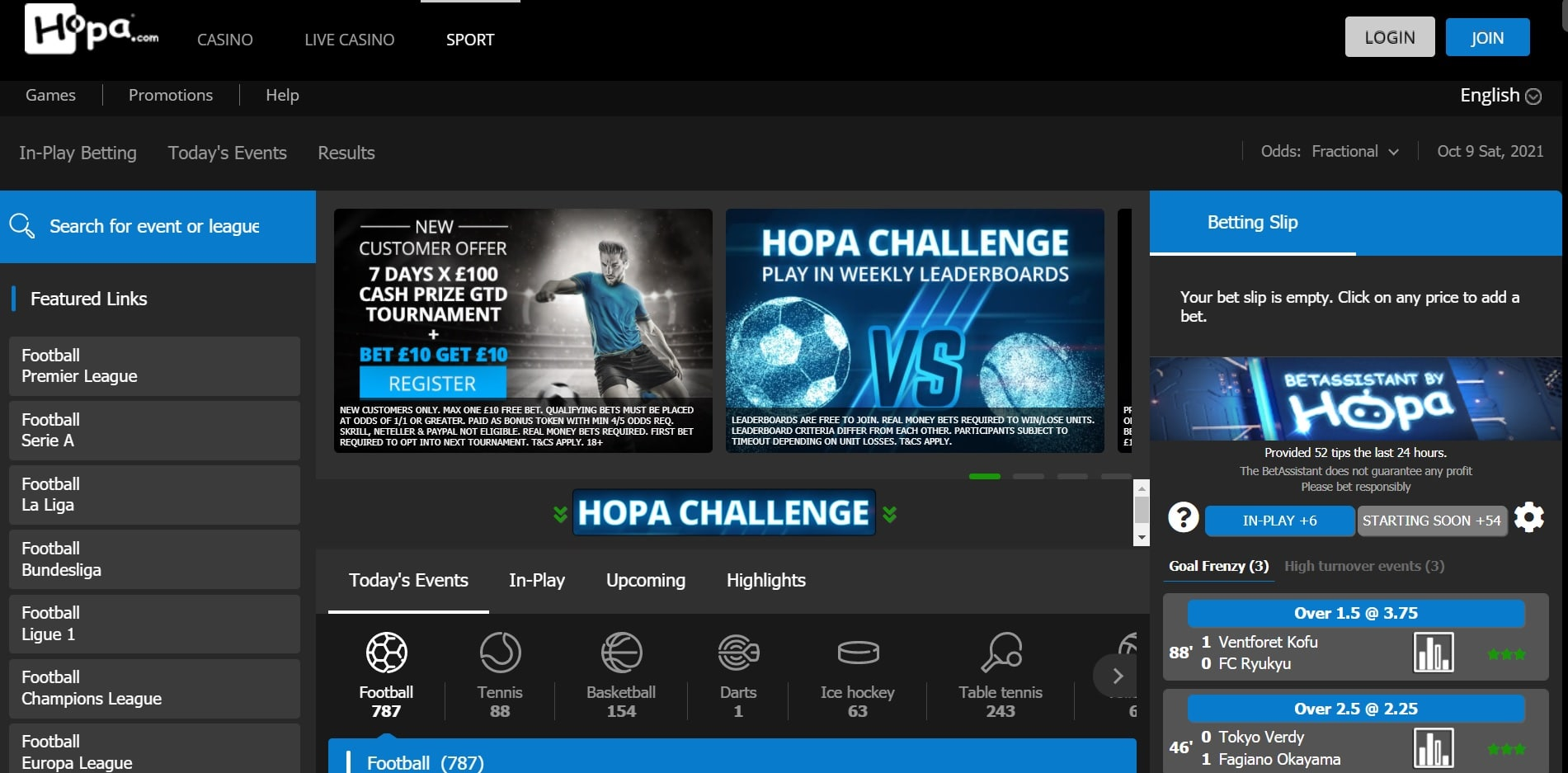 Hopa new betting sites