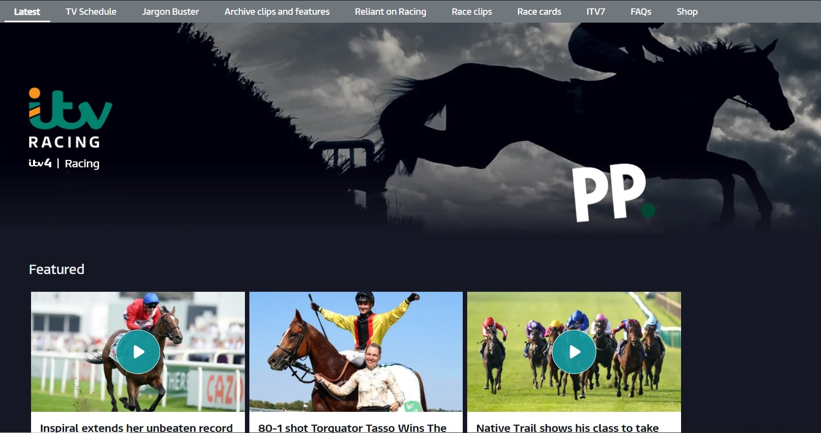 ITV Racing live horse racing streaming sites