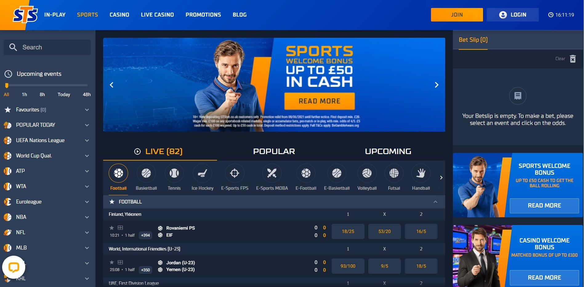STS new betting sites